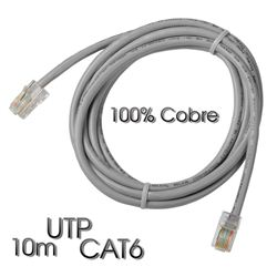 Cable Cromad de red UTP CAT 6 10M Gris Claro 100% COBRE - CR0737